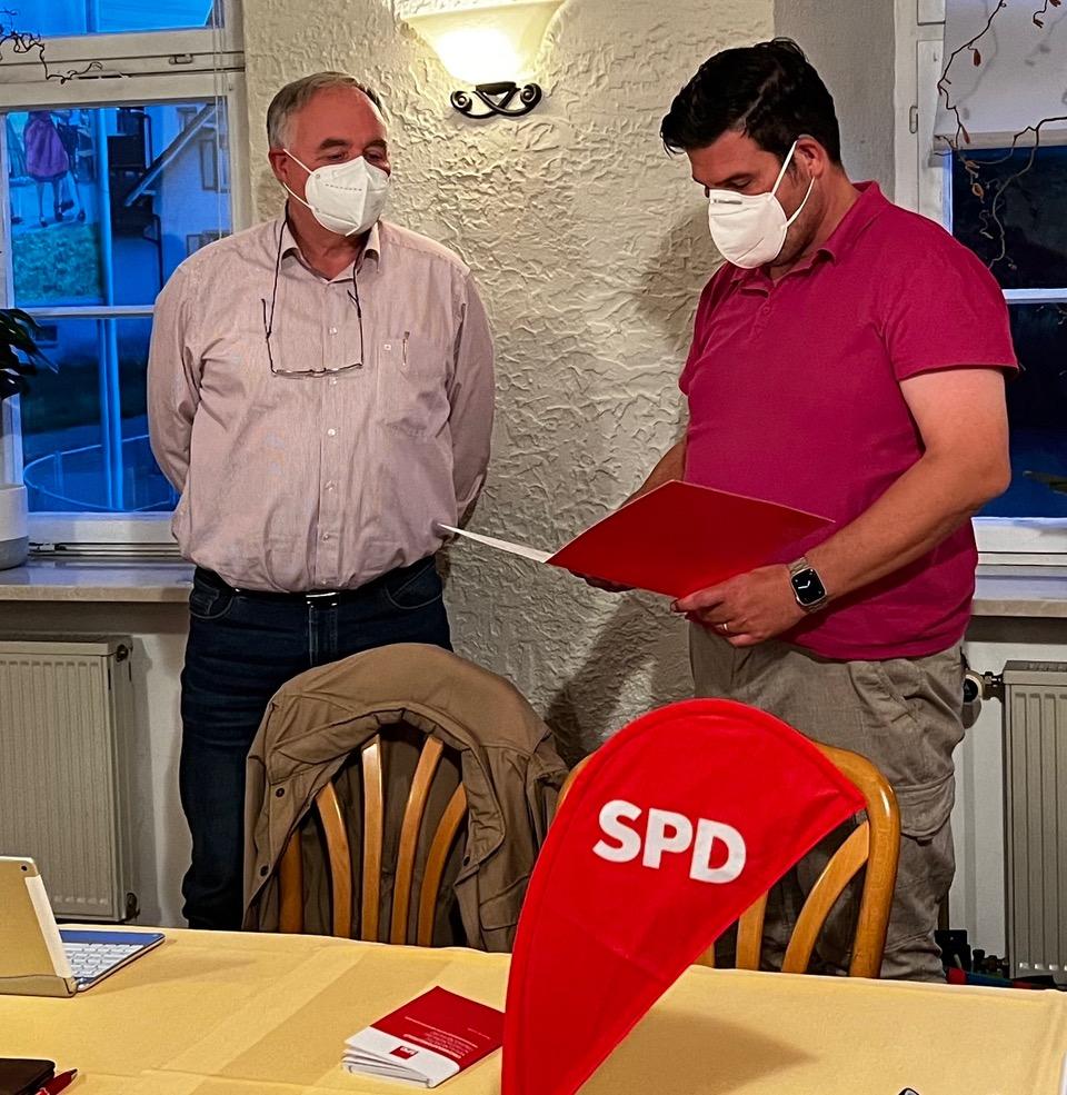 Ehrung Jürgen Strube Oktober 2021
